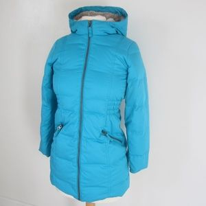 Womens Lands' End Down Filled Puffer Jacket XS/S